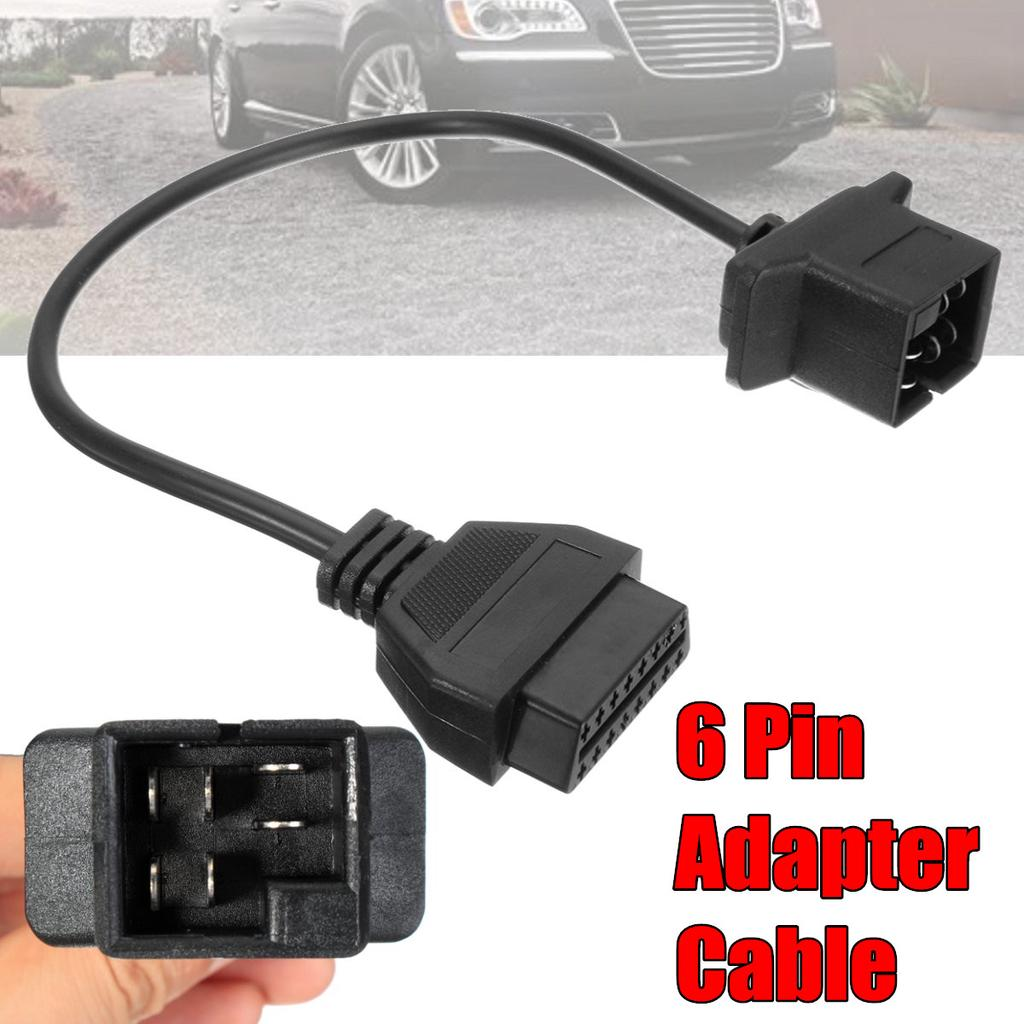 6 Pin OBD To OBD2 Check Engine Adapter Cable Code Reader Tool Adapter For  Chrysler Jeep Dodge