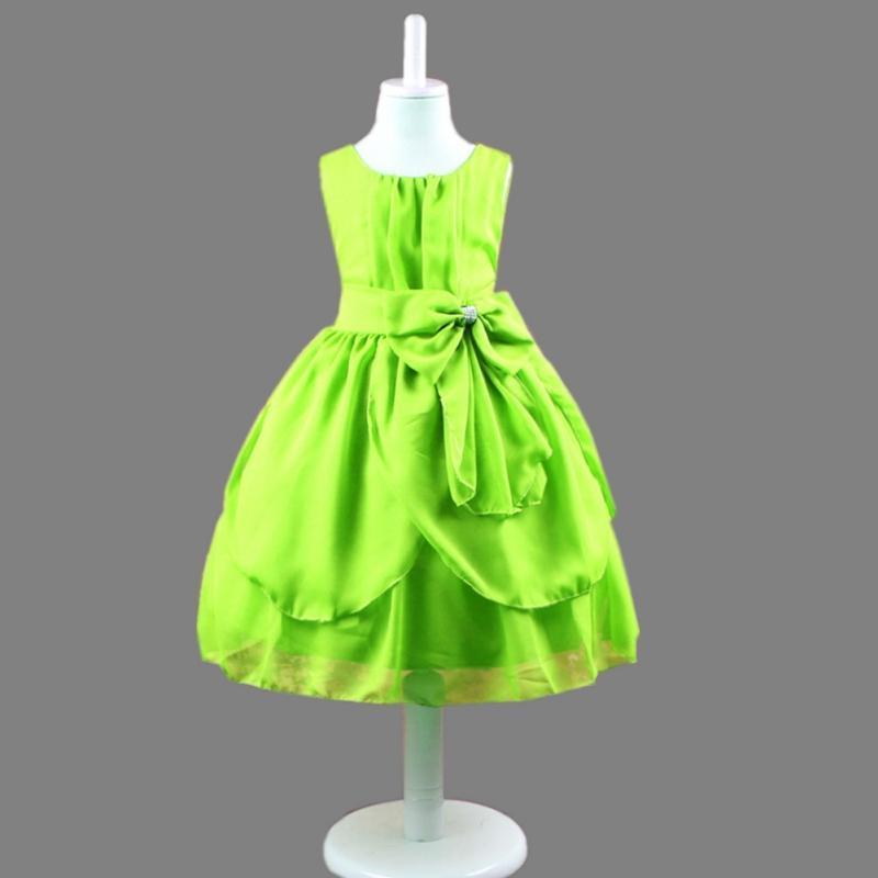 6d5ed677e2577e1 Дети девушка лук платье свадьба младенческой ребенка платья шифон ...