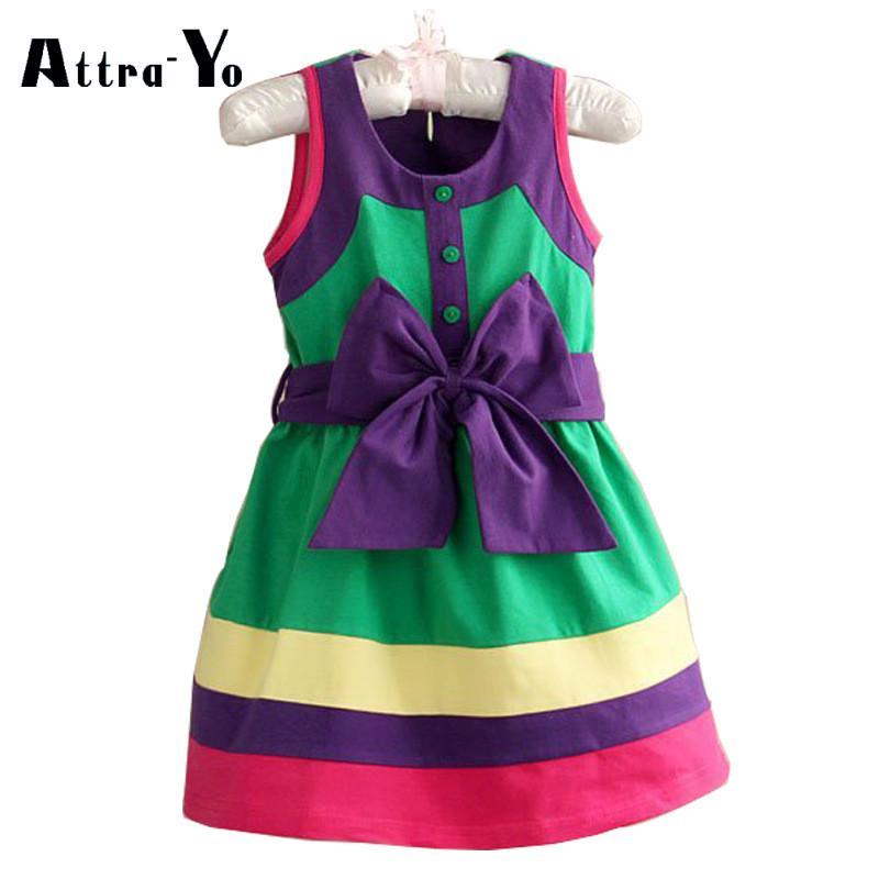 Vestidos de niñas faldas de colores Kids princesa partido Bowknot ...