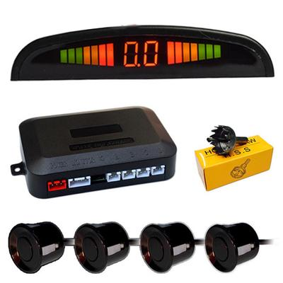 Car Parking Sensor Kit Rear Reverse Backup Radar System 8 Sensors with Display Backup Reversing Sensors Universal Auto Radar Detector Sensors Radar Buzzer BiBi Alarm Indicator Silver