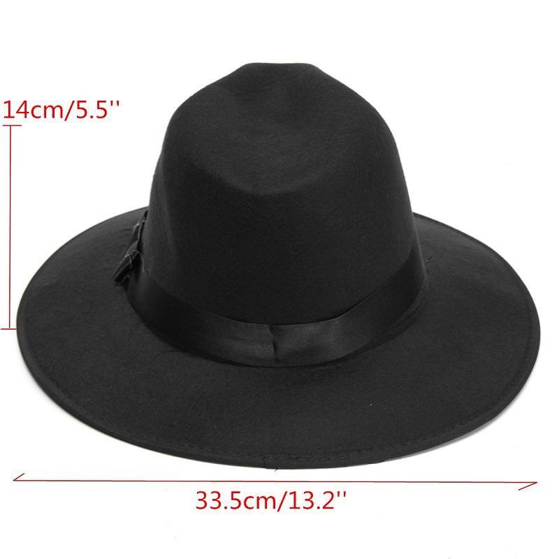Moda Vintage sombrero Unisex de borde ancho de fieltro vaquero flojo Fedora  Bowler Jazz tapa (Color  negro) - comprar a precios bajos en la tienda en  línea ... 15259fb8dd5