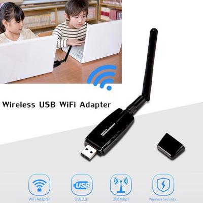 Kavas New 5DBI USB Wireless WiFi Adapter Dongle Network LAN Card receiver mini 802.11N mobile laptop