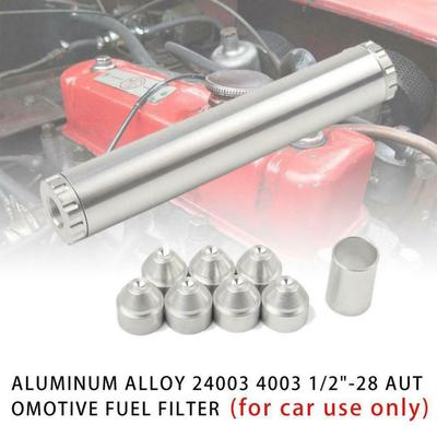 Universal Motorcycle Fuel Filters 8mm CNC Craft Aluminum Gasoline Filter Modified Accessories Copper Filter Oil Filter Oil Cup