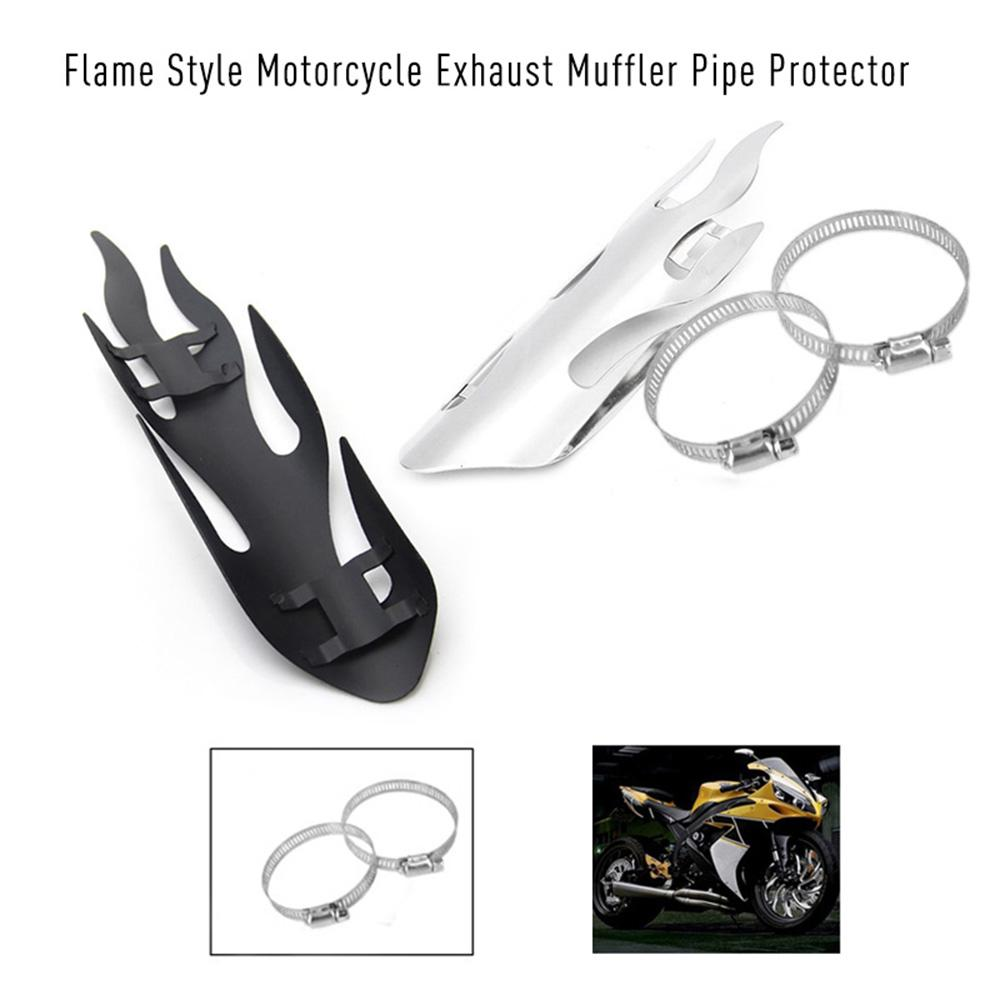 Flame Style Motorcycle Exhaust Muffler Pipe Protector Heat Shield Cover For  All Dirt Bike Off Road