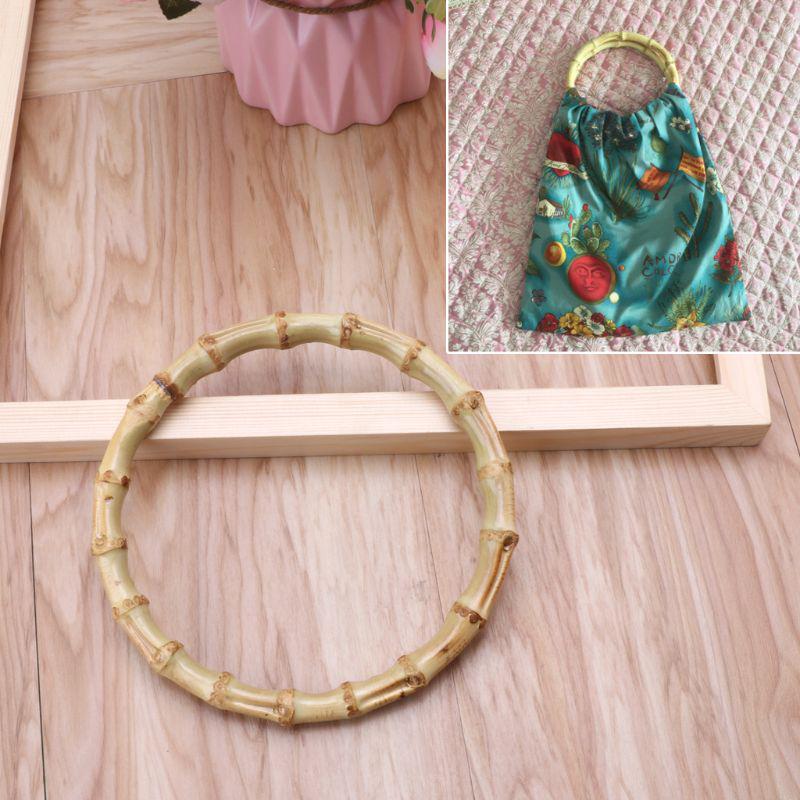 8d26236c9 1 x bolsa de bambú redondo asa para bolso artesanal de accesorios de ...