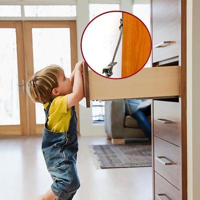 1 Set Anti Tip Furniture Anchors Safe Straps for Cabinets Bookcase Dresser *DC