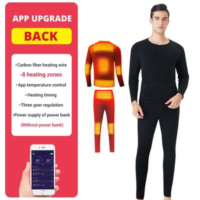 Men's Thermal Underwear USB Heating 8 Zones Can Be Controlled By Bluetooth