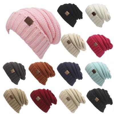 2499dd92dd1 Winter Fashion Knitting Ponytail Cap Pleated Thick Skiing Warm Women Knitting  Hat