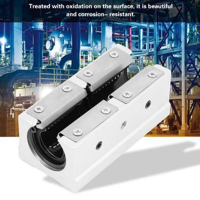 Slide Bushing Tool for Machine 20mm SBR20LUU 1Pcs Aluminum Alloy Long Rail Linear Motion Ball Bearing Accessories