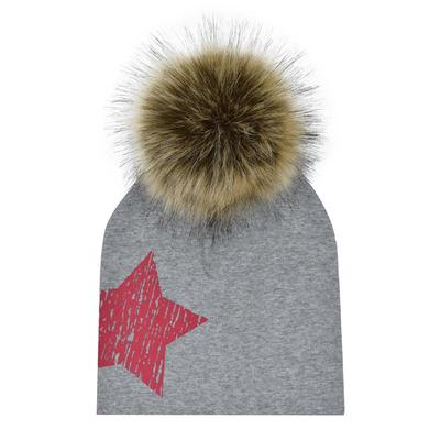 Piel sintética artificial sombrero otoño invierno niño niña mapache pelo  Pom tapa gorro 4e962850533