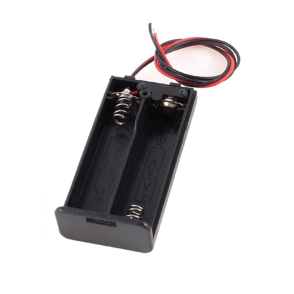 2 x AA 3V Batterie Halter Fall Box Slot verdrahtet ON/OFF-Schalter w ...
