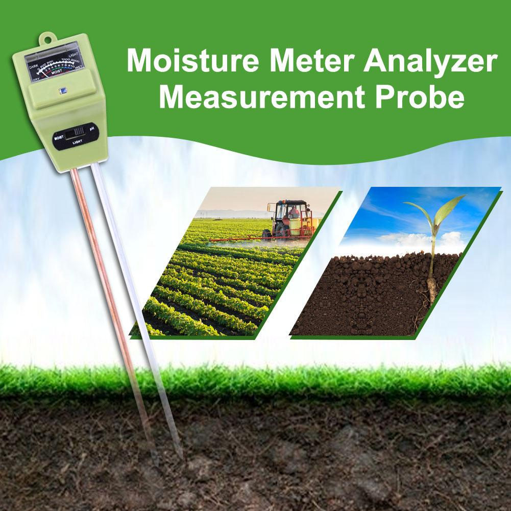 PH Meter Soil Tester Analyzer Hydroponics Moisture Flowers Plants Outdoor Lawns