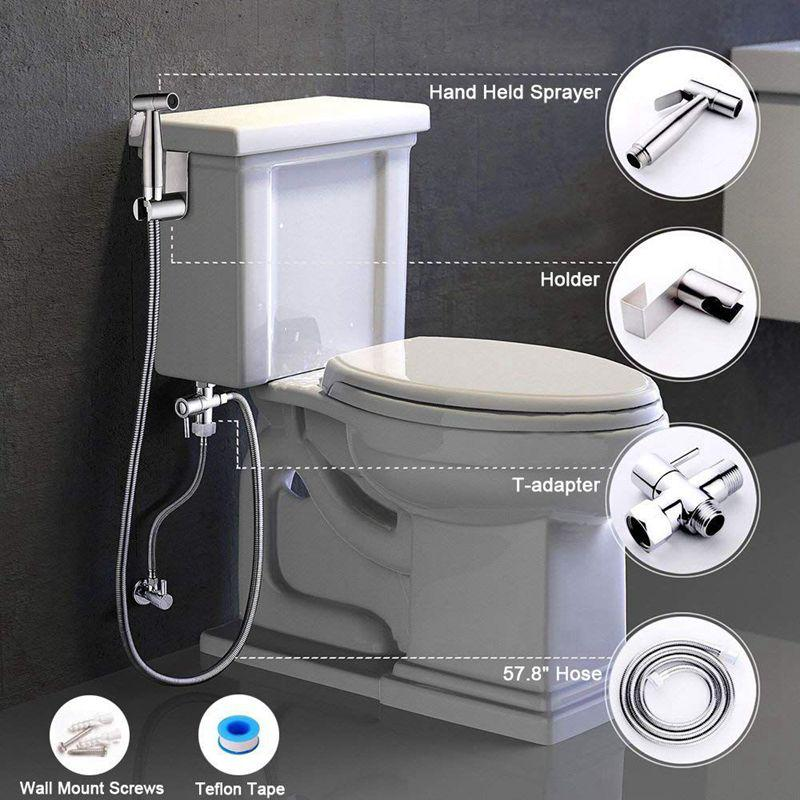Hand Held Bidet Sprayer For Bathroom Toilet With Spray Holder Us Plug Buy At A Low Prices On Joom E Commerce Platform