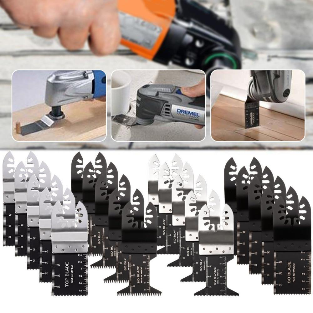 26PCS Oscillating Multi Tool Saw Blade For Fein Ridgid Makita Bosch Rotary Set