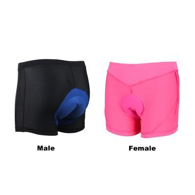 Men Women Bicycle Bike Underwear Pants Cycling Shorts with Sponge Gel 3D Padded