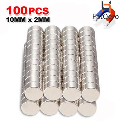 50Pcs Super Strong Round Cylinder Disc 2 x 10mm N35 Rare Earth Neodymium Magnets
