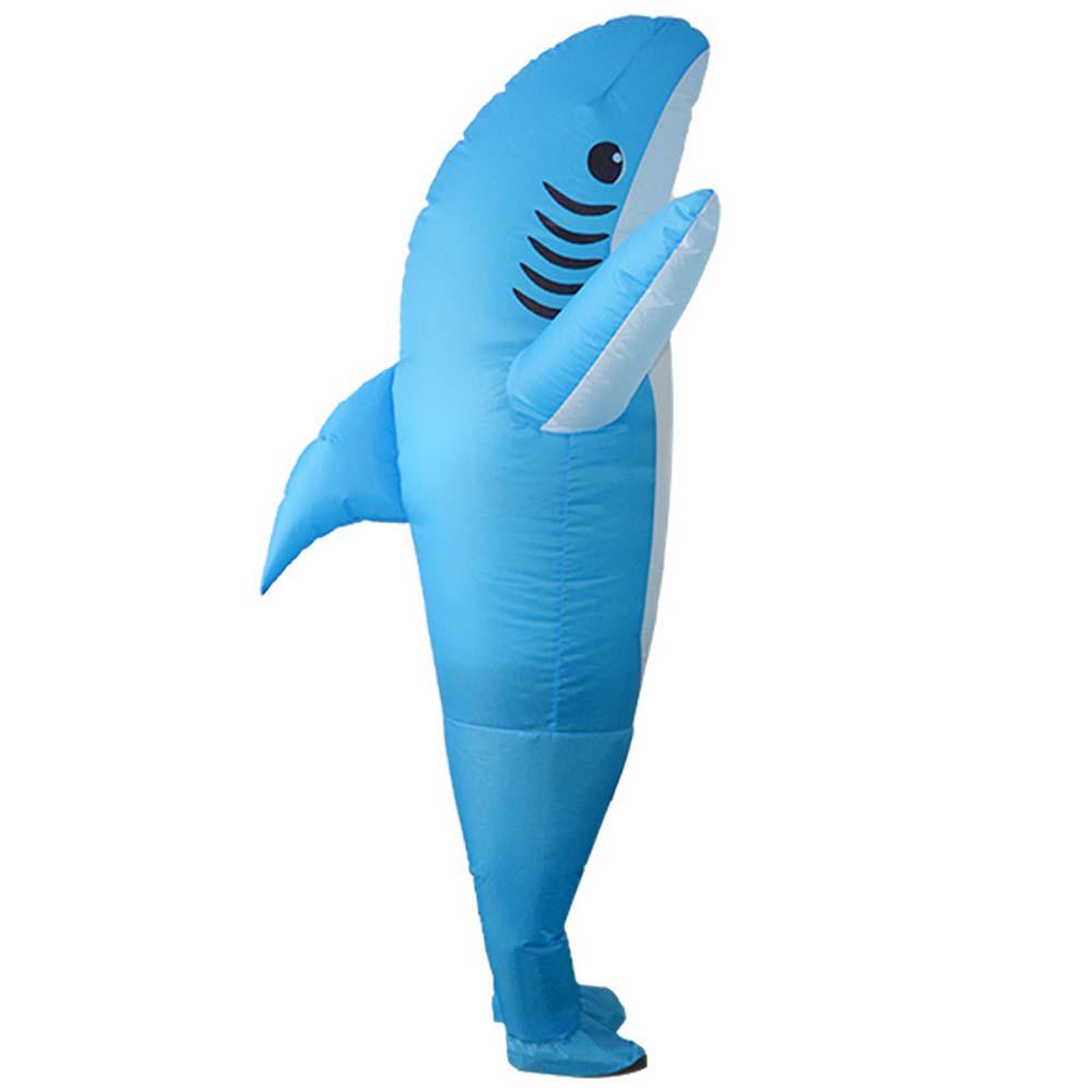 Happy Walk Shark Inflatable Costume Fancy Dress Cosplay Costumes for Adults Christmas Halloween Party