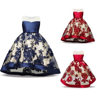 27745bbacbf264b Летом дети формальных платье для девочки одежда цветок конкурс день  рождения принцессы свадебное платье