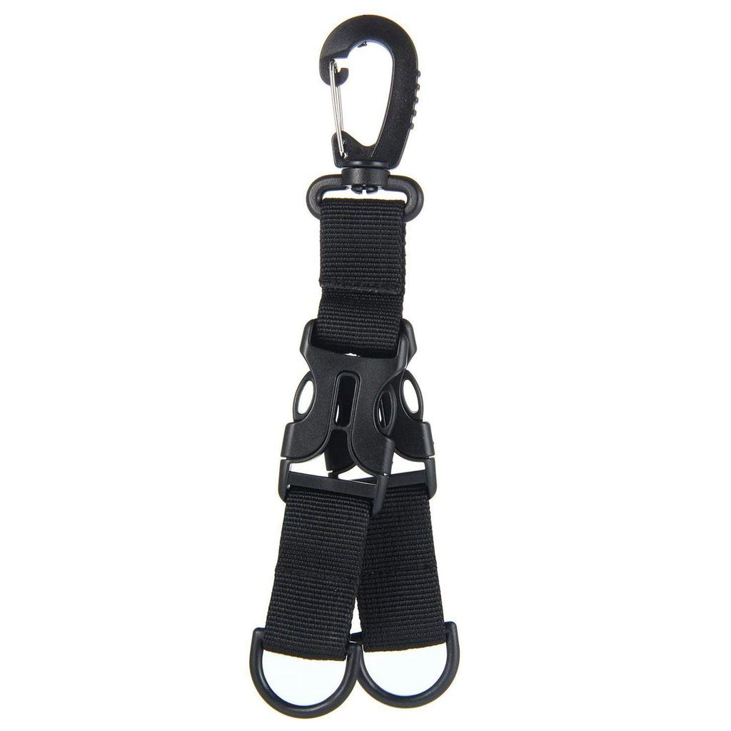 Nylon Multifunctional Molle Harness Ring Belt Clip Carabiner Keychain Hook