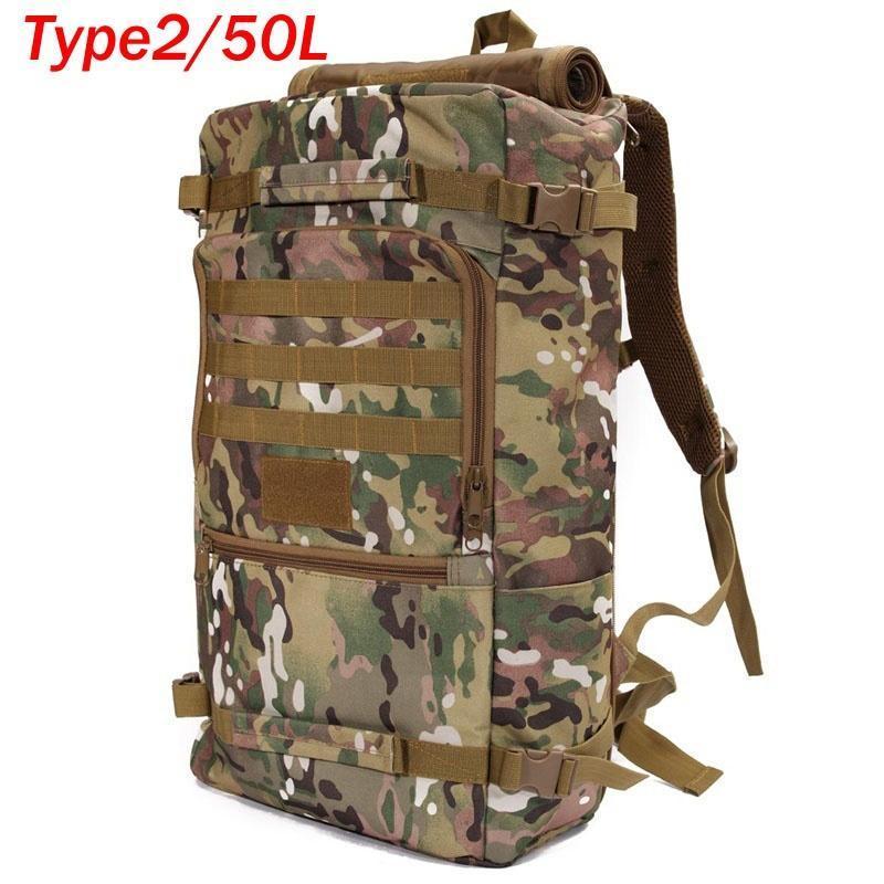 45L Grande Mochila Tática Militar Ao Ar Livre Camping Viagem Mochila Caminhadas Bolsa