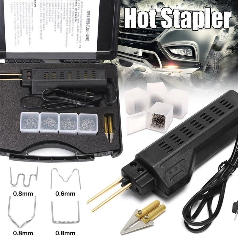 Car Bumper Fender Fairing Plastic Repair Kit Repair Gun Head Spatula Triangular