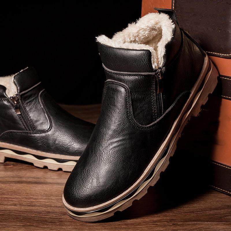 LovelyShoes Человек Зимний Теплый Шерсть Обувь Сапоги Плоская обувь Мода Мужчины – купить по низким ценам в интернет-магазине Joom