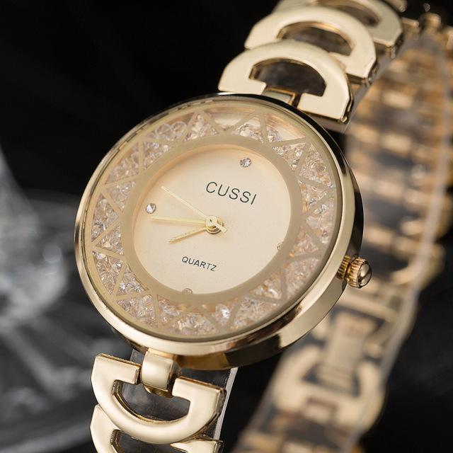955b5ff2f475 Reloj CUSSI relojes de pulsera de mujer oro damas elegantes diamantes de  imitación reloj cuarzo lujo del vestido - comprar a precios bajos en la  tienda en ...