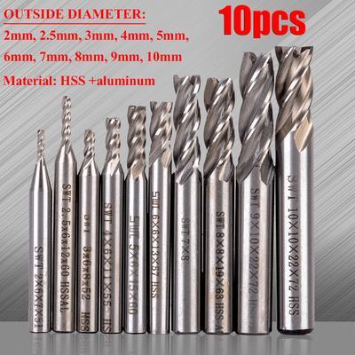 5mm HSS Straight Shank 4-Flute End Mill Cutter CNC Milling Cutting Router Bit