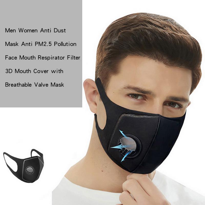 Anti Haze Pollution with Filter Breathable Washable Face Mouth Protection