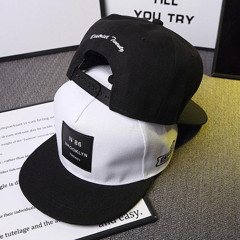 Мужчин Мужская Бруклин письма сплошной цвет патч бейсбол Cap хип-хоп Шапки кожаные солнце шляпа Snapback