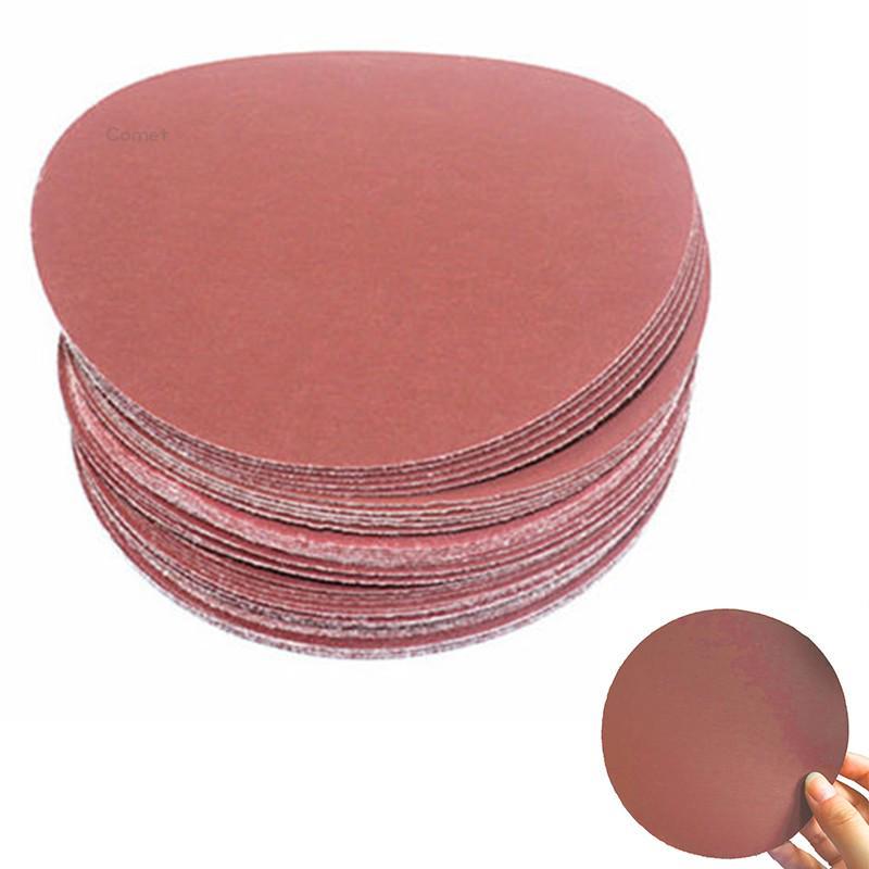 Pad шлифовальные диски 320-2000 Грит Хук петли наждачной бумаги полировки Маньи 40pcs 5 дюймовый 125 мм фото