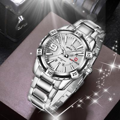 Luxury Brand Men Watches Fashion Casual Date Display Business Gold Full Steel Wristwatch