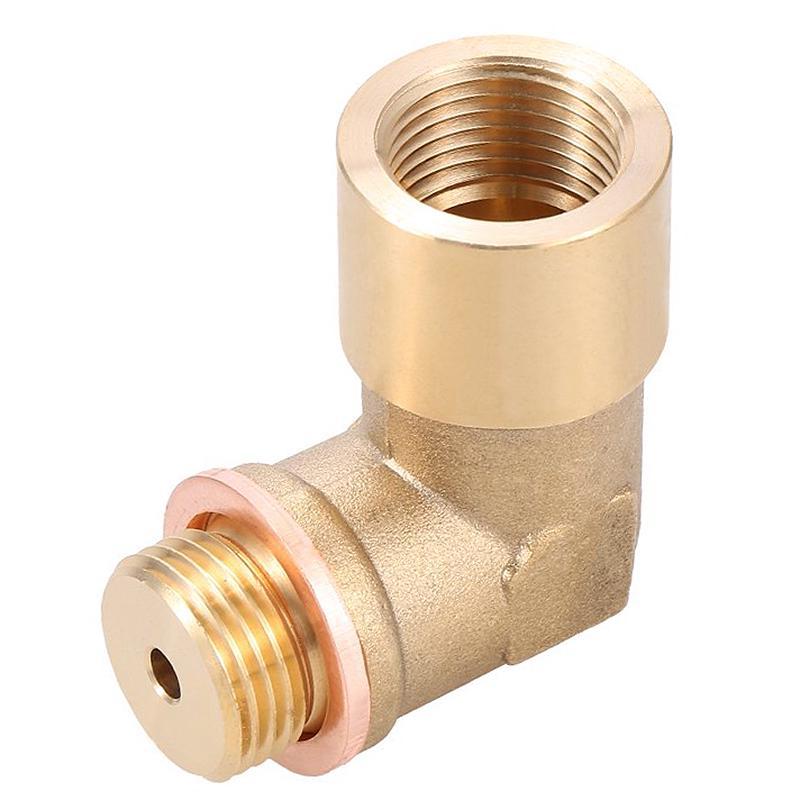 Semoic Angle 90/° Lambda O2 Oxygen Sensor Extender Spacer For Decat Hydrogen