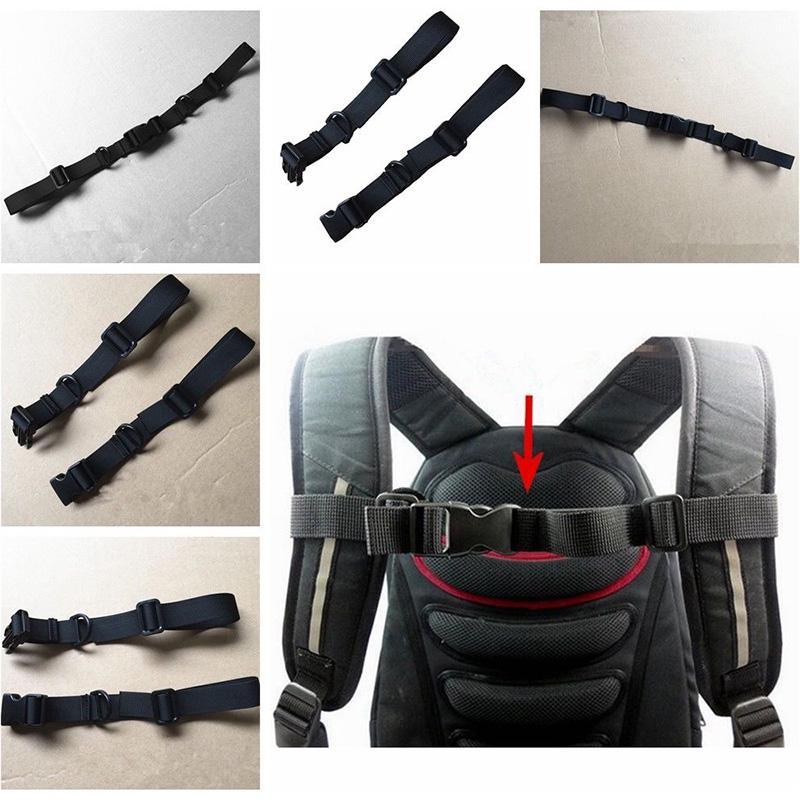 Adjustable Sack Bag Backpack Webbing Sternum Chest Strap Clip Harness Buckl P6U1