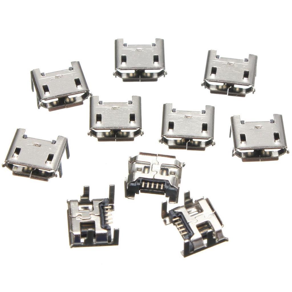 5PCS USB Type-B Female 4 Pin Plug Connector Socket