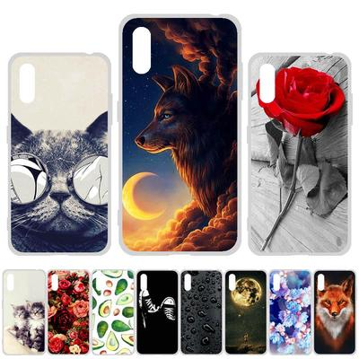 Soft Case for Samsung Galaxy A21S A11 EU Case Silicone for Samsung A01 A21 Cover Cute Cat Animal Flowers Patterned Phone Bumper