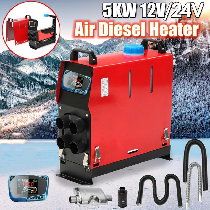 Car Defroster Mist Eliminator Universal DC12-24V Double Compact Air Heater with Speed Switch,6 Ports Car Truck Heater