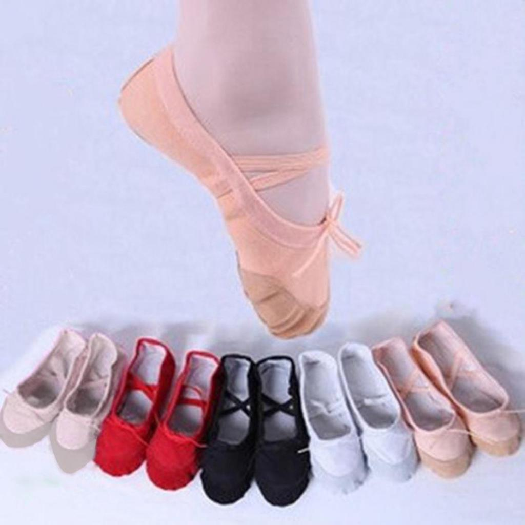 Childrens Dance Shoes Yoga Shoes Ballet Shoes Soft Bottom Girls Cat Claws Practice Shoes Canvas Fabric Breathable Dance Shoes Color : Flesh, Size : 25