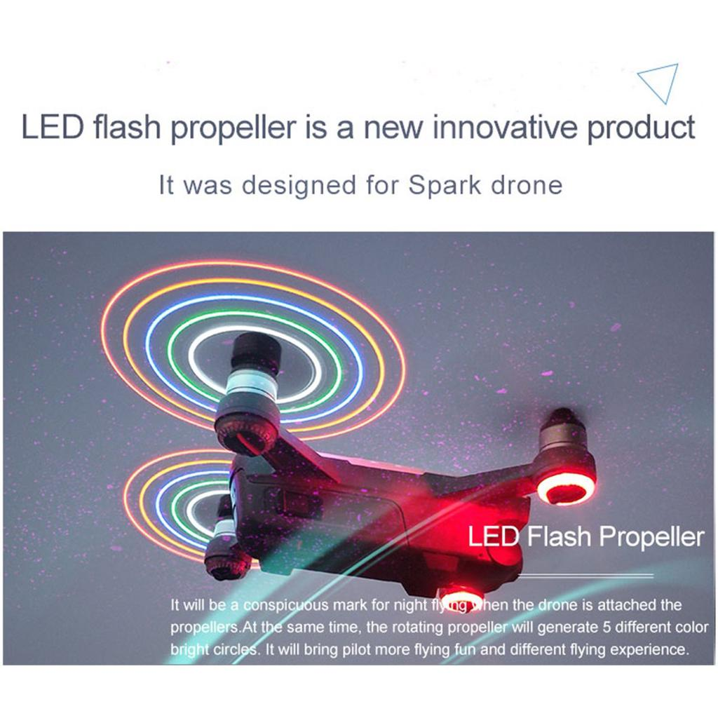 4730 LED Flash Quick Release CW CCW Propellers Blades Props Spare Parts for DJI Spark RC Drone Quadcopter Aircraft UAV