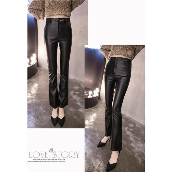 Ragazze Pelle Elastici Pantaloni Lunghi Leggings Pantaloni Fuseaux Leggings Invernali Ecopelle Caldo Pantaloni