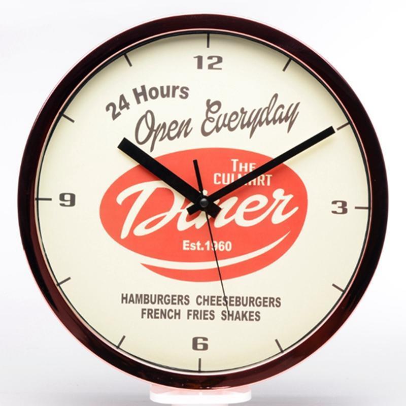 Puede el tiempo oro rosa reloj de pared marco plateado - comprar a ...