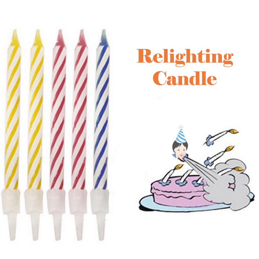 10 Piece Magic Trick Relighting Birthday Candle Naughty Party Joke