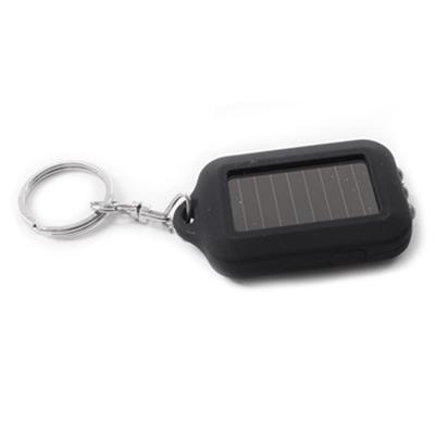 5x Pink Solar Energy Powered Rechargeable LED Keychain Emergency Flashlight Lamp