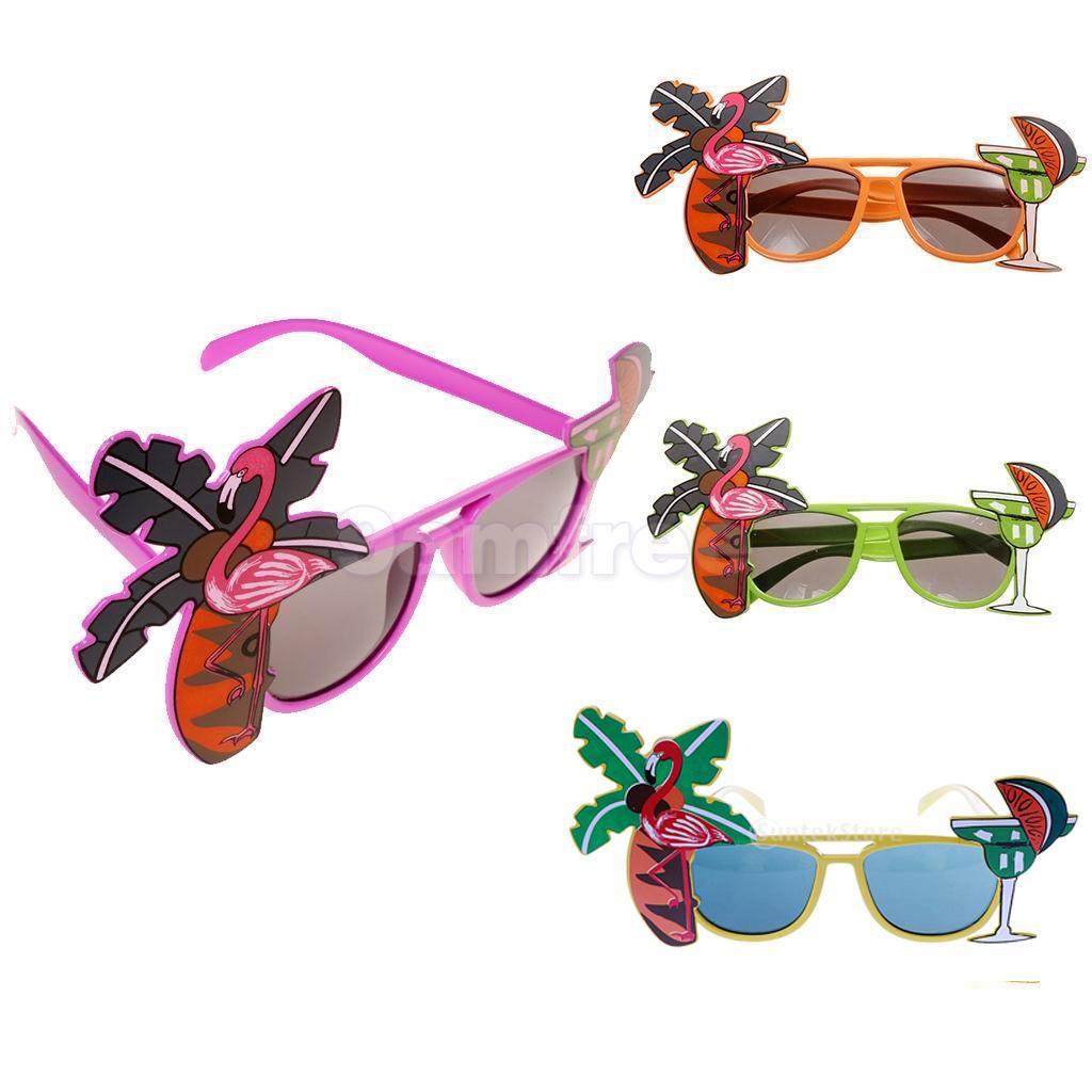 b4f265ab8c Gafas fiesta coctel hawaiano gafas de sol lujo vestido Tropical ...