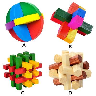 Inteligencia Madera Juguete Chino Cerebro Teaser Iq 3d Juego Puzzle