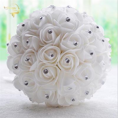 Nunta Buchet Trandafiri Cu Diamante Domnişoara De Onoare Buchet