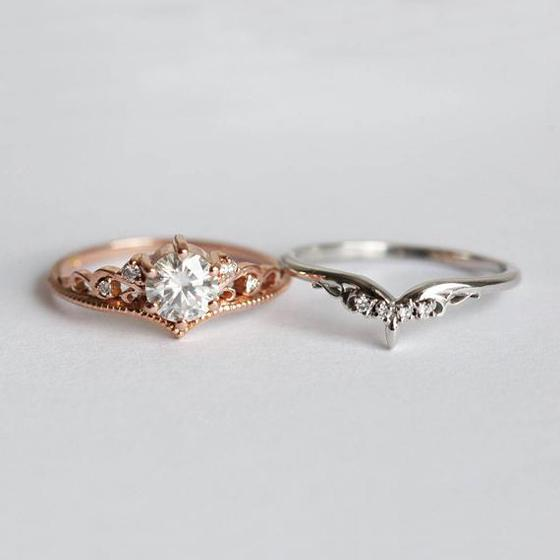 Anillos señoras pequeños diamantes de imitación de cristal dedo deslumbrante boda fiesta joyas 6A