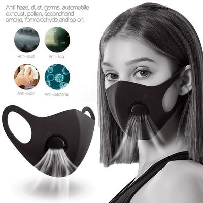Cycling Face Mask Safety Dust Mask with Breathing Valve Anti-fog Anti-Wind-proof Mask for Adult