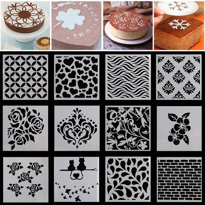 Snow Flower Cake Stencils Fondant Designer Decorating Craft Cookie Baking Tools