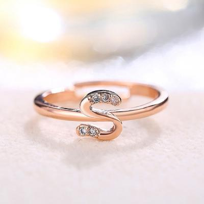 Fashion Household 26 Letters Fashion Exquisite Diamond Adjustable Ring Women Simple Charm Jewelry Gi Buy At A Low Prices On Joom E Commerce Platform